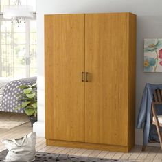 Scholl Oak 2 Door Armoire