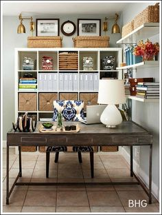Home Office Decorating Ideas -Create a comfortable working space! #cupcakedownsouth