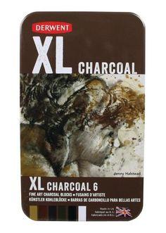 Derwent XL Coloured Charcoal Tin 6 Asst, $42.95