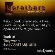 START SAVING IN GOLD TODAY!  VISIT: https://karatbars.com/?s=deborahbrandon to open your FREE account.  Why not become an affiliate and tell the world about the KARATBARS REVOLUTION. BECOME FINANCIALLY FREE TODAY!!  To learn more about the history of GOLD  visit: http://brandongibson.co.uk/income-generating-systems/karatbars/
