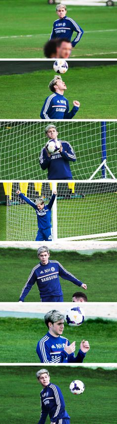 Niall Horan your the reason why I like soccer.