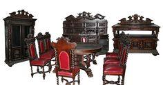 7157 19th C R J Horner 12 PC Renaissance Revival Carved Oak Dining Room Suite | eBay