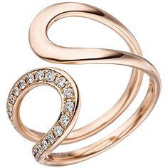 Dreambase Damen-Ring W SI wesselton 14 Karat Rotgold 21 Diamant ct. Bangles, Bracelets, Trends 2018, 21st, Jewelry, Amazon, Fashion, Jewelry Findings, Brilliant Diamond
