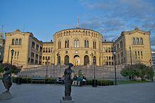 Noruega - El Palacio del Storting, sede del parlamento de Noruega.