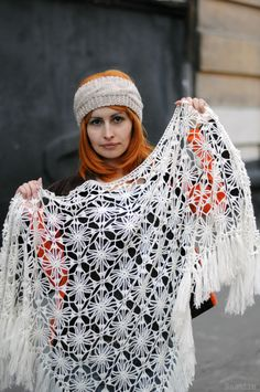 Gorgeous crochet shawl