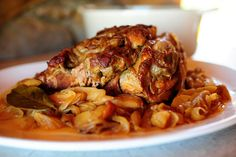 I made this for dinner tonight and it was absolute DELICIOUS! One of the best pork recipes I've ever had. Pork roast with apples and onions from Pioneer Woman. It's AMAZING!!! Don't skip the sauce at the end...sauce=heaven!!!