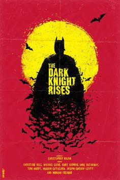 Art poster by Daniel Norris The Dark Knight Rises Classic Movie Posters, Minimal Movie Posters, Movie Poster Art, Cool Posters, Poster Series, Poster Poster, The Dark Knight Trilogy, The Dark Knight Rises, Posters Batman