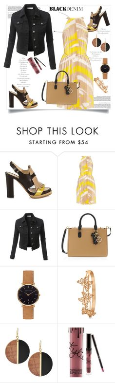 """Black Denim"" by helenaymangual ❤ liked on Polyvore featuring Santoni, MaxMara, LE3NO, Henri Bendel, Allurez, Michael Kors and Kylie Cosmetics"
