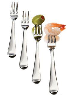 12-Piece Just Tasting Appetizer Fork Set  http://www.katom.com/634-56119.html