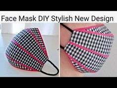 Small Sewing Projects, Sewing Hacks, Sewing Tutorials, Techniques Couture, Sewing Techniques, Easy Face Masks, Diy Face Mask, Mascara 3d, Mouth Mask Fashion