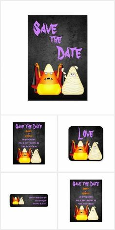 Cute Candy Corn Halloween Wedding Collection