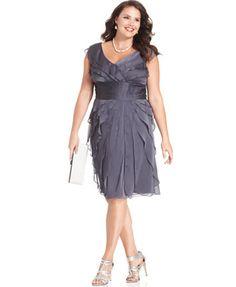 Adrianna Papell Plus Size Pleated Empire-Waist Dress | macys.com