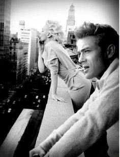 James Dean and Marilyn Monroe in NYC.