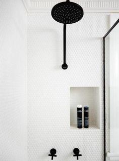 dusche badezimmerarmatur in schwarz
