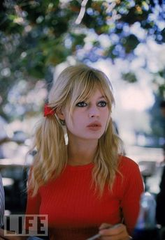 oh the pigtails! and the pout!  Brigitte Bardot