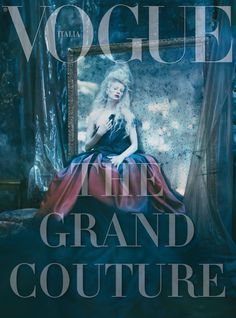 """""""The Grand Couture"""". Kristen McMenamy for Vogue Italia September 2010 by Paolo Roversi"""