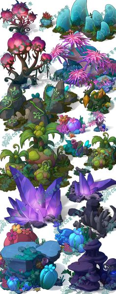 Flowers Drawing Design Backgrounds Ideas For 2019 Game Design, Prop Design, Design Color, Ui Design, Environment Concept, Environment Design, Game Environment, Fantasy Kunst, Fantasy Art