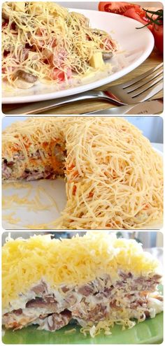 French Kiss salad with meat, vegetables … – Recipes Fun Easy Recipes, Special Recipes, Easy Meals, Healthy Recipes, Breakfast Recipes, Dinner Recipes, Russian Recipes, International Recipes, Creative Food