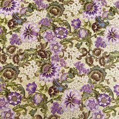 Robert Kaufman Stunning Purple Olive Brown Ivory Metallic Gold per Yard | eBay