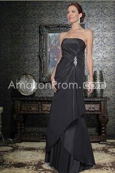 Sheath/Column Strapless Floor Length Mother Of The Bride Dresses Under 100