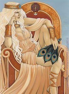 The Art | ravynnephelan Hera Greek Goddess, Divine Goddess, Greek Gods And Goddesses, Greek And Roman Mythology, Mythology Books, World Mythology, Celtic Mythology, Yoruba, Drawing Hair