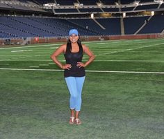 This basic WAGS look is always in style.  You can't go wrong sporting the team cap! Model-Teresa Alvarez