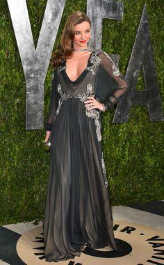 Supermodel Miranda Kerr in Valentino at the 2013 Vanity Fair Oscar Party