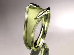 14kt yellow gold   leaf and vine wedding by anjaysdesigns on Etsy, $655.00