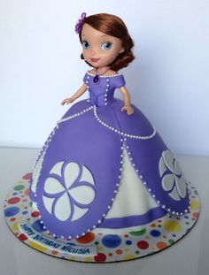 Sofia The First Cake by Mimi's Sweet Art