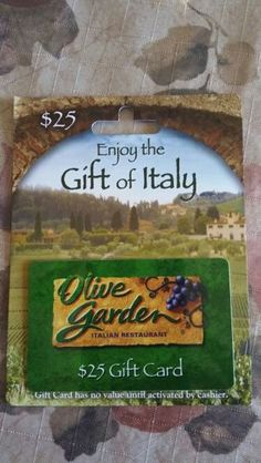 $25 gift card OLIVE GARDEN