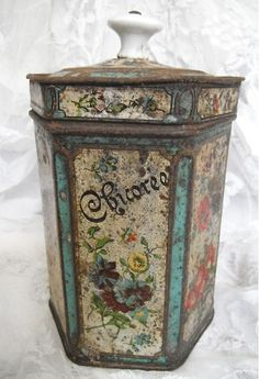 French Chicoree Tin ... from French Country Linens on Etsy