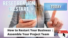 """Assembling Your Restarting Project Team (Step 1 in Restarting Your Biz) We are doing a Video Series that covers """"Steps to Restart your Business Strategies"""". Business Video, Online Business, John Maxwell, Mbti, Leadership, Coaching, Strategic Planning, Pinterest Marketing, Appointments"""