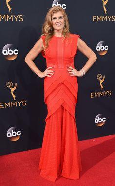 Connie Britton from 2016 Emmys Red Carpet Arrivals  In Talbot Runhof