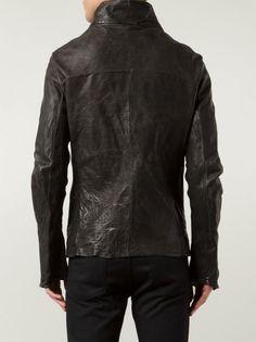 INCARNATION - Asymmetric Horse Leather Jacket - 11051-4757-NK D.GRAY - H. Lorenzo