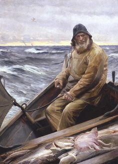 With Fish to Skagen - Michael Peter Ancher (1849-1927, Danish)