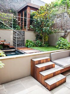 House garden design dream homes courtyards 40 ideas Courtyard Design, Patio Design, Exterior Design, Home Garden Design, Small Garden Design, Home And Garden, Landscape Stairs, Landscape Design, Patio Furniture Sets