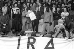 IRA rally - The Troubles in Northern Ireland. They certainly had the support of the people—and why wouldn't they? Northern Ireland Troubles, Belfast Northern Ireland, Ireland 1916, Irish Republican Army, Irish Tattoos, Erin Go Bragh, Living On The Edge, Irish Eyes, Ireland