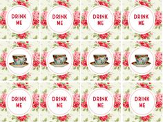Alice in Wonderland Tea Party Printables at Happy Home Bird | Cool Mom Picks