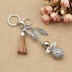 Amazon.com: BEST FRIEND Keychain Angel Charm Key Ring Tassel Keyring For Women 1Pc: Clothing