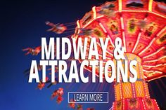 midway and attractions at the big mitten fair
