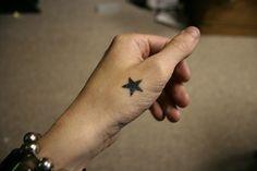 hand tattoos | Small Hand Star Tattoo for Women | Tattoos for Women