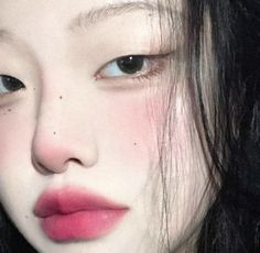cr linked ! Aesthetic Grunge Outfit, Aesthetic Makeup, Cute Makeup, Makeup Looks, Korean Hair Color, Anime Lips, Swag Girl Style, Ulzzang Makeup, Pretty Korean Girls