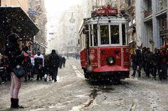 Снегопад в Турции.