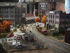 Housatonic Model Railway Club... this scene captures the grimy backside of railroads as they pass through the backyards and alleyways of houses and industrial facilities.