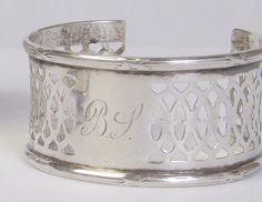 Bev Lambert (Miranda Lambert's MOM!!) 19thC Sterling Napkin Ring Cuff Bracelet by Karen Lindner Designs