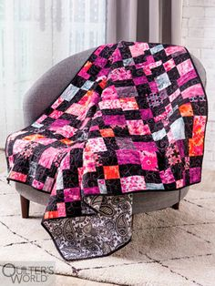 This project is featured in Summer 2020 Quilter's World magazine. Colorful Ice Cream, Floral Fabric, Machine Quilting, Color Splash, Special Gifts, Baby Car Seats, Farmhouse Decor, Dress Up, Scrappy Quilts
