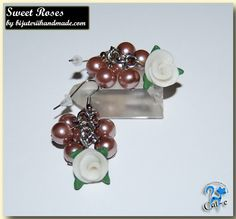 sweet roses Roses, Drop Earrings, Sweet, Handmade, Jewelry, Jewellery Making, Hand Made, Pink, Jewels