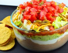 Food.com's 15 best game day dip recipes. Pictured: 7 Layer Dip.