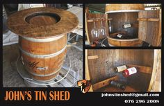 Wine Barrel conversion Tin Shed, How To Remove Rust, Plasma Cutting, Repurposed, Barrel, Restoration, Great Gifts, Wine, Products