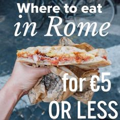 The 7 best places to eat in Rome on a serious budget